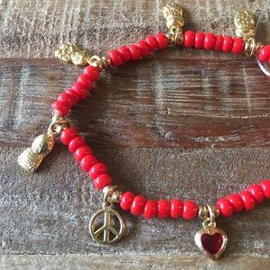 NWT Red Charm Bracelet